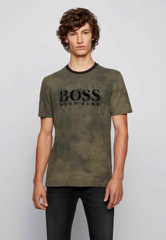 TIMA - Print T-shirt - open green