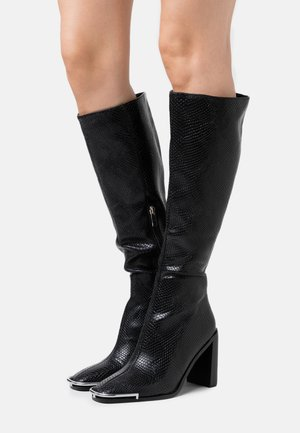 MISSION - High heeled boots - black