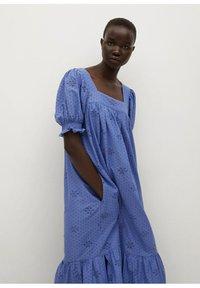 Mango - Vestido largo - blue - 4