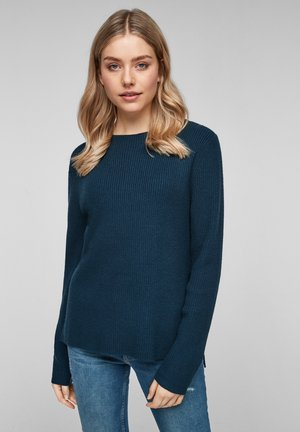 MIT RIPPSTRUKTUR - Jumper - moonlight ocean knit