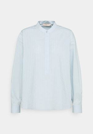 POPLIN PLEATED - Button-down blouse - spring blue