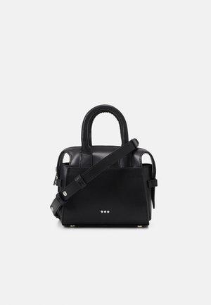 CROWN MINIATURE BAG - Taška spříčným popruhem - black