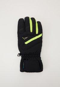 Ziener - GARY GLOVE SKI ALPINE - Gloves - blackpoison yellow - 1