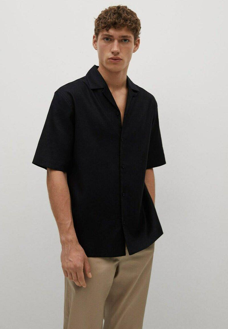 Mango - BOWLING - Shirt - black