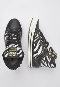 British Knights - ATOLL - High-top trainers - zebra/black - 2