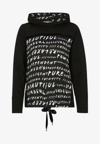 comma casual identity - MIT TUNNELZUG-SAUM - Hoodie - black graffity - 4