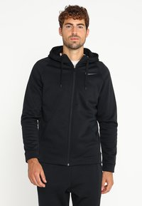 Nike Performance - THERMA  - Fleecejacke - black/dark grey - 0
