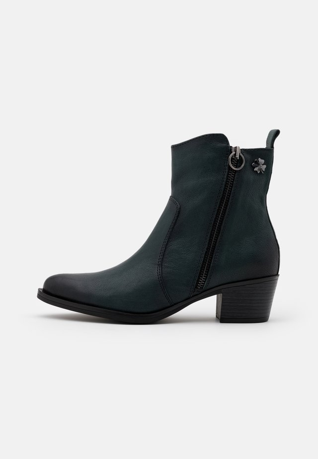 BOOTS - Cowboy/biker ankle boot - green antic