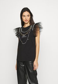 River Island - Print T-shirt - black - 0