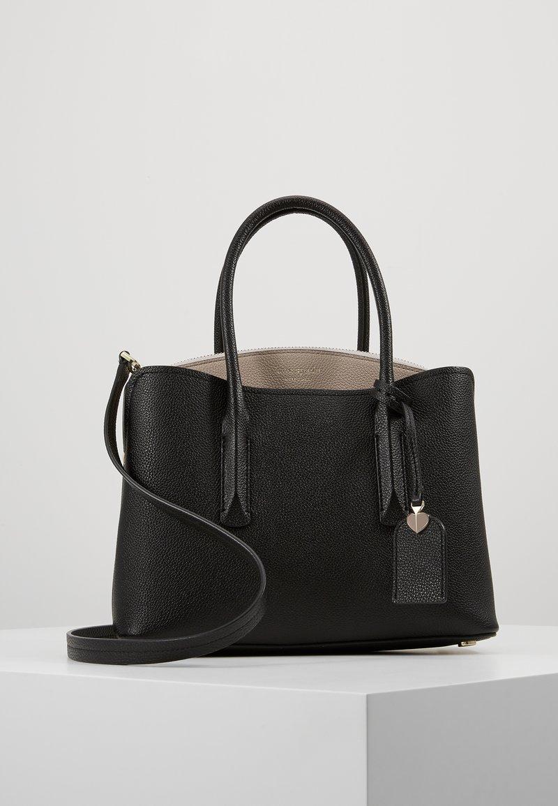 kate spade new york - MEDIUM SATCHEL - Handtasche - black/warm taupe