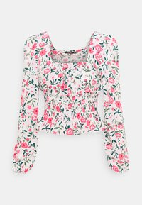 Missguided Tall - GATHERED WAIST PUFF BLOUSE - Blouse - multi-coloured - 0