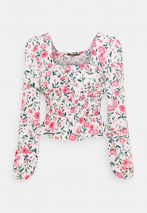 GATHERED WAIST PUFF BLOUSE - Blouse - multi-coloured