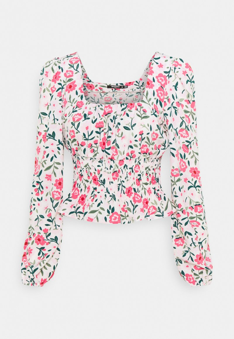 Missguided Tall - GATHERED WAIST PUFF BLOUSE - Blouse - multi-coloured