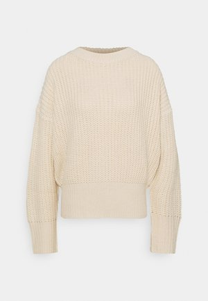 BASIC CHUNKY CREW NECK  - Jumper - sand