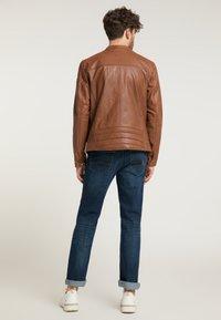 Mustang - Leather jacket - braun - 2