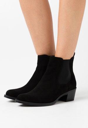 GREYSON - Cowboy/biker ankle boot - black