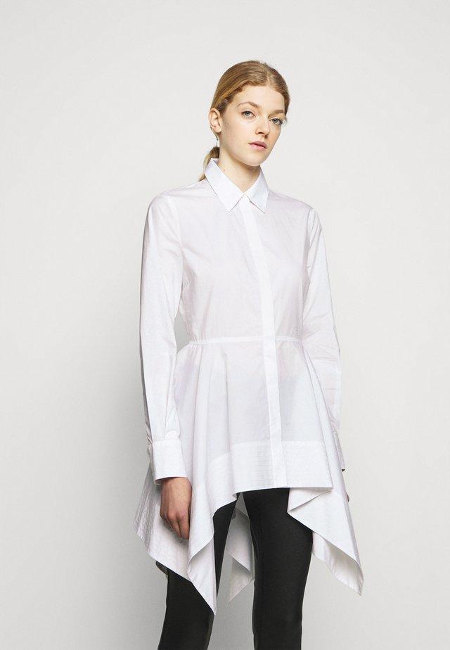 PEPLUM TUNIC - Bluse - white