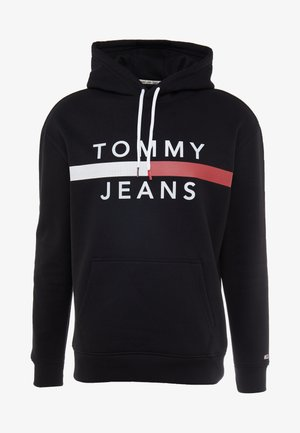 REFLECTIVE FLAG HOODIE - Bluza z kapturem - tommy black