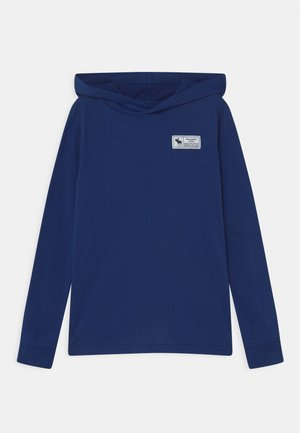 PRINT LOGO HOOD  - Long sleeved top - blue sku