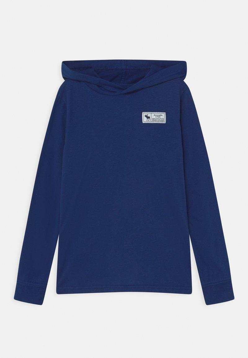 Abercrombie & Fitch - PRINT LOGO HOOD  - Camiseta de manga larga - blue sku