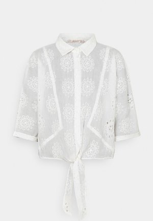 BLOUSE KNOT BRODERIE ANGLAISE - Camicetta - off white