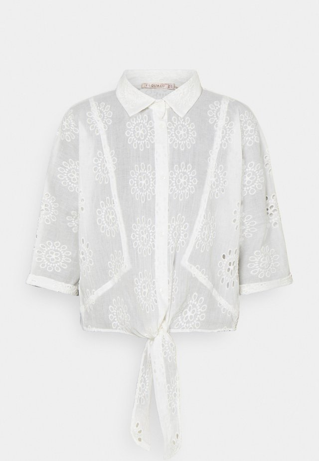 BLOUSE KNOT BRODERIE ANGLAISE - Pusero - off white