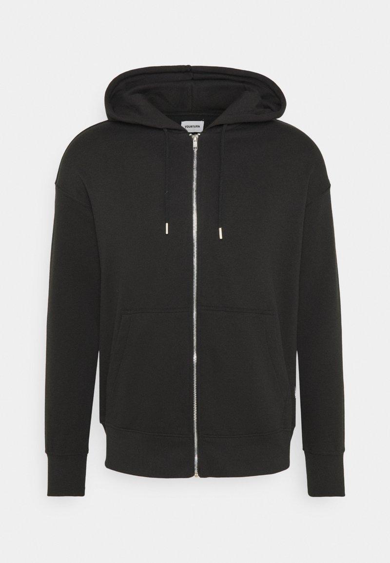 YOURTURN - UNISEX - Zip-up hoodie - black