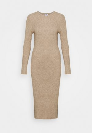 ELLA LONG SLEEVE SPLIT DRESS - Jumper dress - acorn marle/natural marle