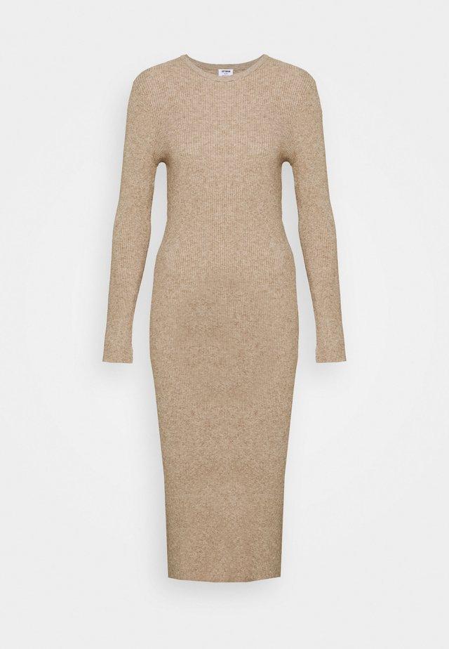 ELLA LONG SLEEVE SPLIT DRESS - Jumper dress - acorn marle/natural marle
