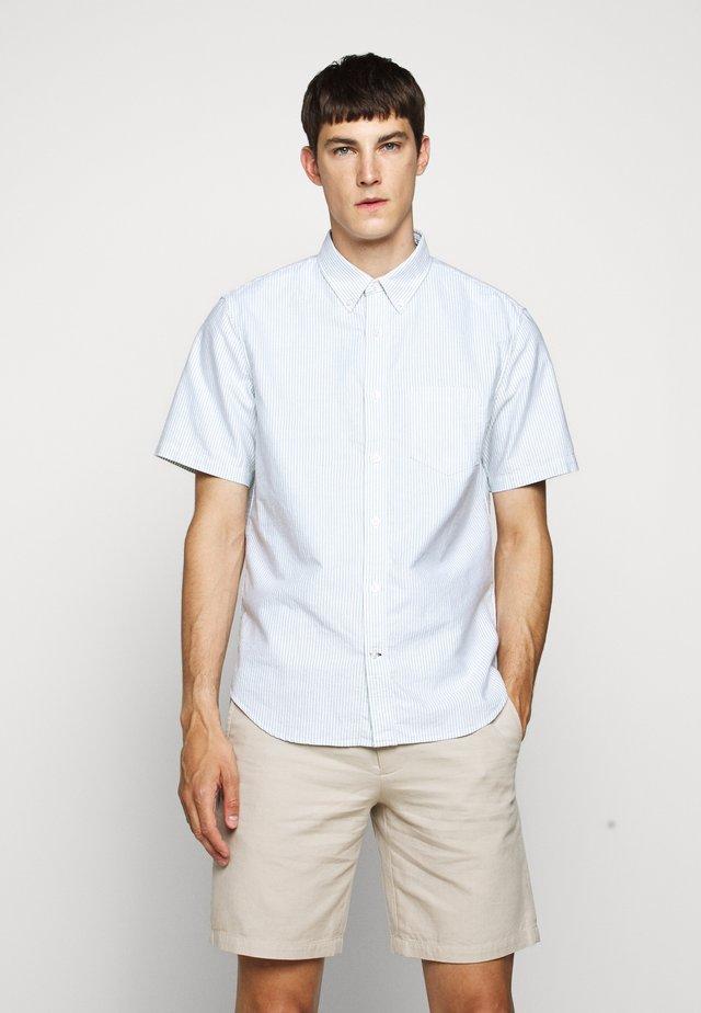 STRIPE OXFORD - Shirt - white/green