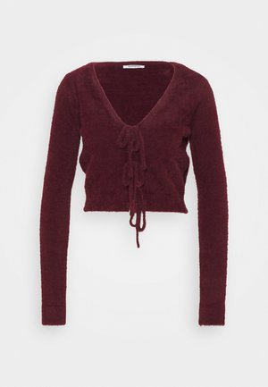 FLUFFY - Strickjacke - burgundy
