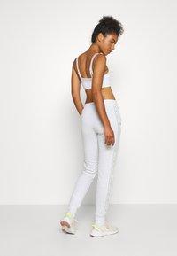 ONLY Play - ONPALYSSA PANTS - Joggebukse - white melange/saftey yellow - 2
