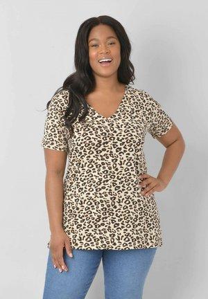 ANIMAL - Print T-shirt - beige, black