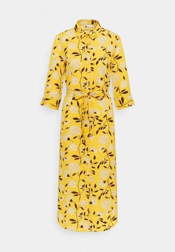 ONLNOVA LUX  SHIRT DRESS - Vestido camisero - golden yellow/white