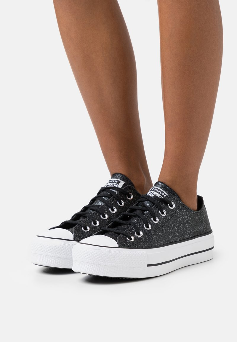 Converse - CHUCK TAYLOR ALL STAR PLATFORM GLITTER - Trainers - black/white