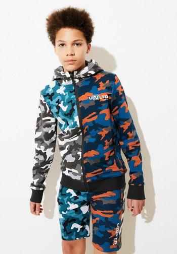 Zip-up sweatshirt - multi-coloured