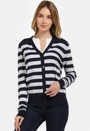 Cardigan - navy light blue