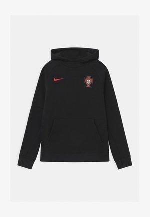 PORTUGAL FPF HOOD UNISEX - National team wear - black/sport red