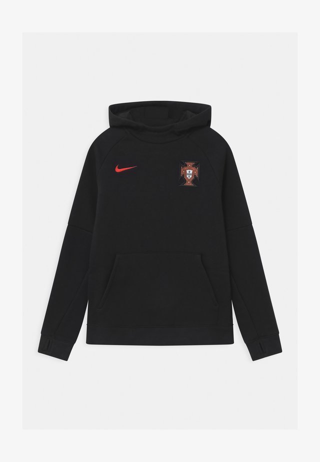 PORTUGAL FPF HOOD UNISEX - Sweater - black/sport red