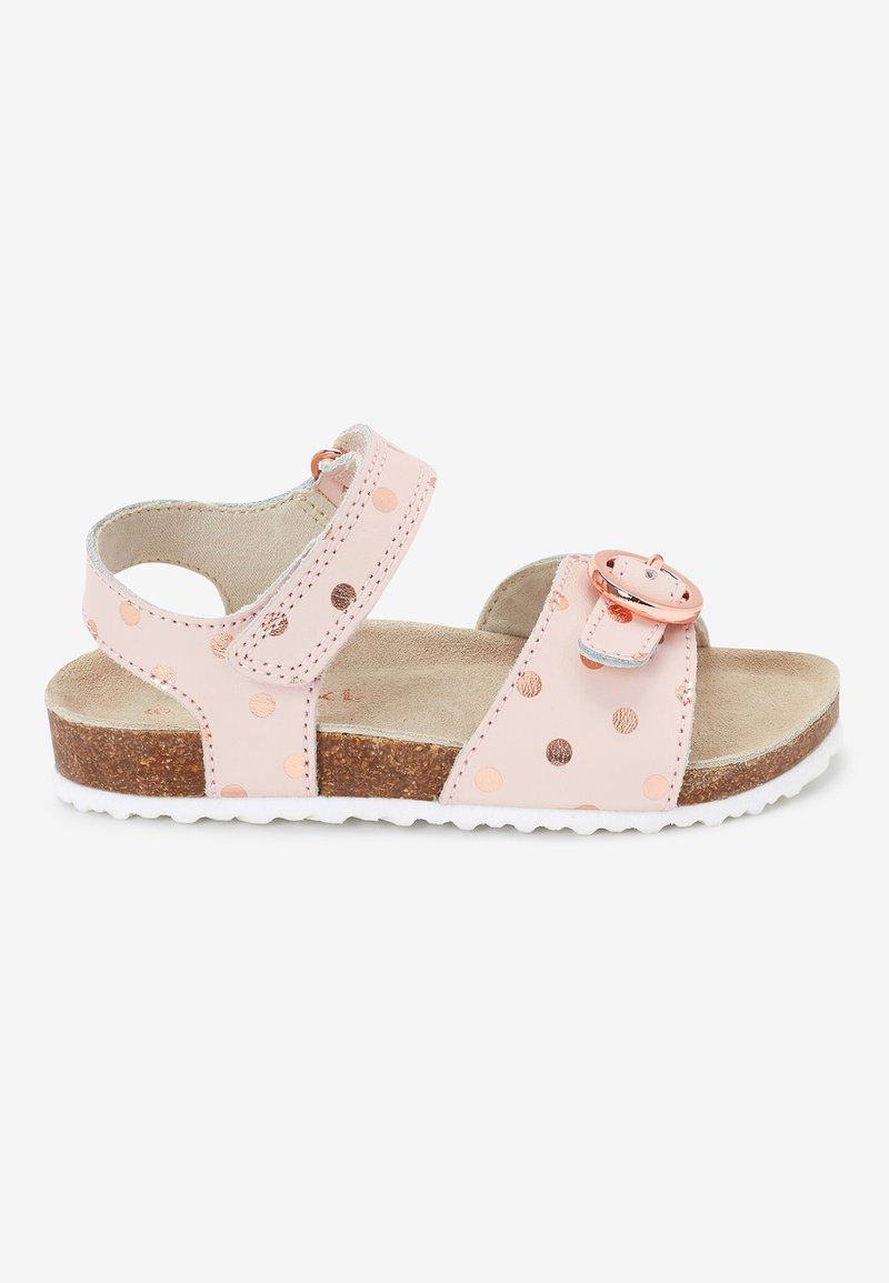 Next - GOLD GLITTER CORKBED BUCKLE - Baby shoes - light pink