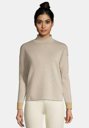 Sweater - light rye heather block