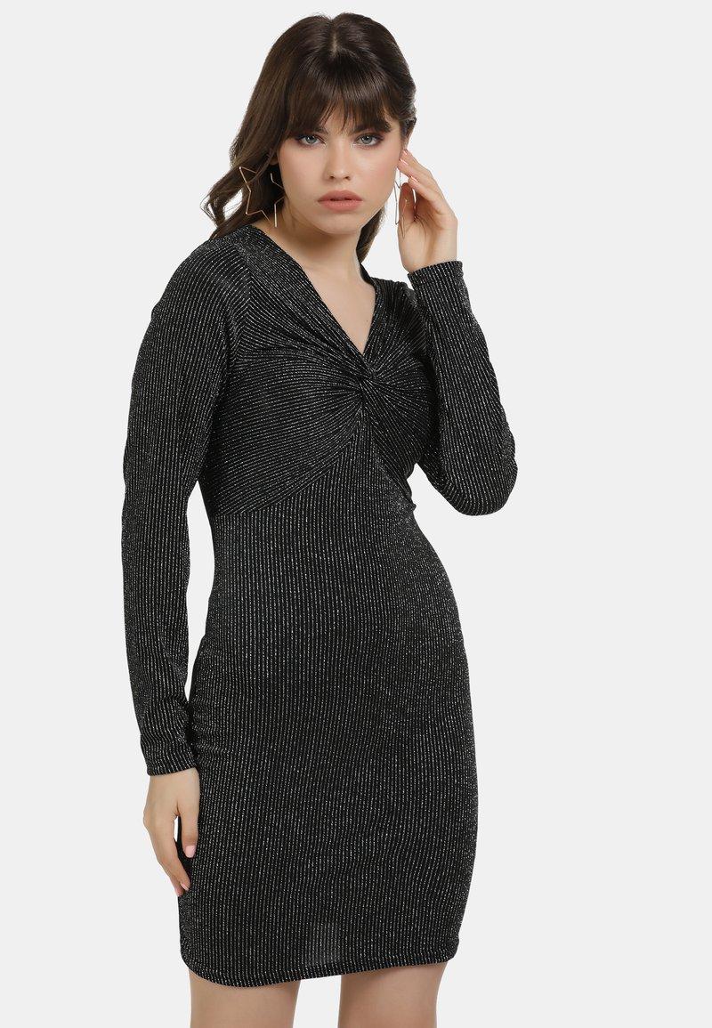 myMo at night - Cocktail dress / Party dress - schwarz silber