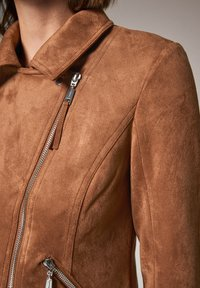 comma - Faux leather jacket - brown - 4