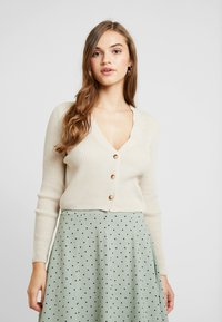 Missguided - SKINNY CROPPED CARDIGAN - Gilet - beige - 0