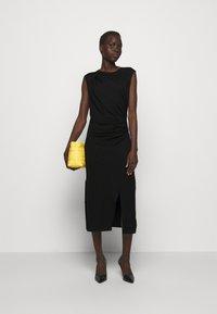 DESIGNERS REMIX - MODENA PLEAT DRESS - Shift dress - black - 1