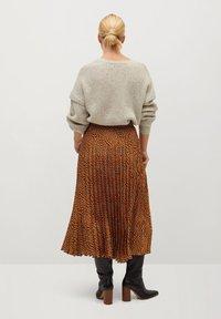 Violeta by Mango - PANTERA - A-line skirt - karamell - 2