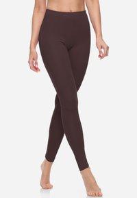 Bellivalini - Leggings - Trousers - brown - 2