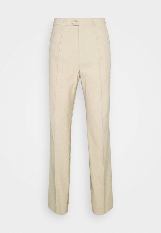 CONRAD WIDE TROUSERS - Kalhoty - beige