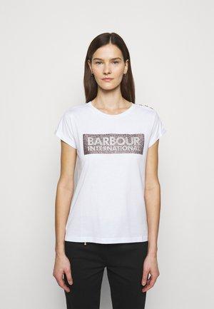 BURNOUT TEE - Print T-shirt - white