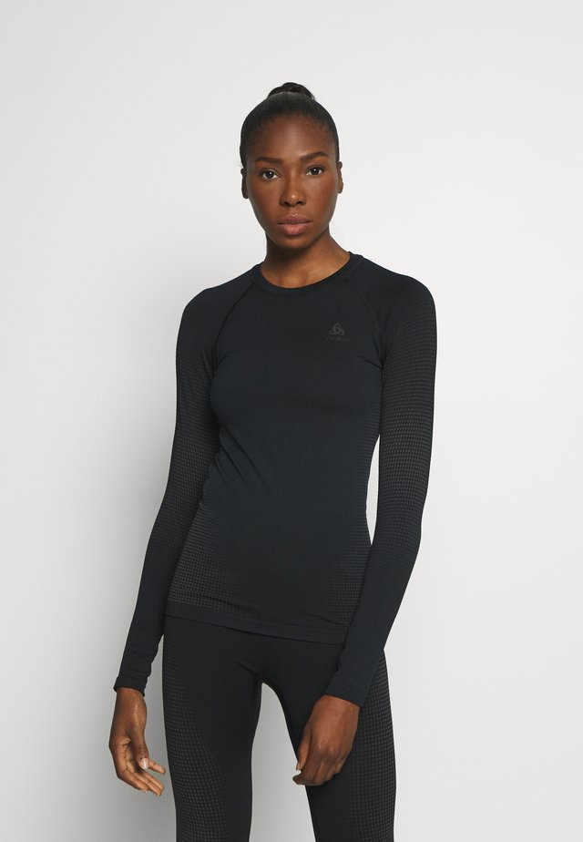 CREW NECK PERFORMANCE WARM - Sports shirt - black